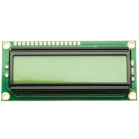 16x2 lcd display yellow green led backlight lcd16x2bl