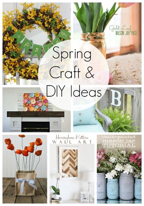 20 diy home decor ideas link party features i heart 20 spring craft and diy ideas link party features i