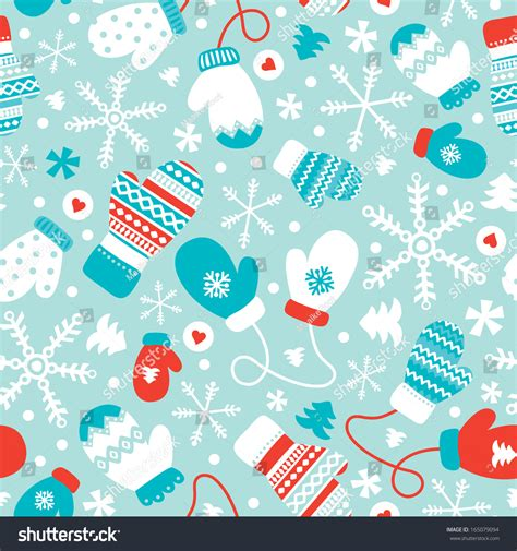 seamless mitten pattern seamless winter mittens gloves christmas illustration