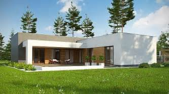 2 Story Modern House Floor Plans Zx133 Modern One Storey House With Flat Roof And Double