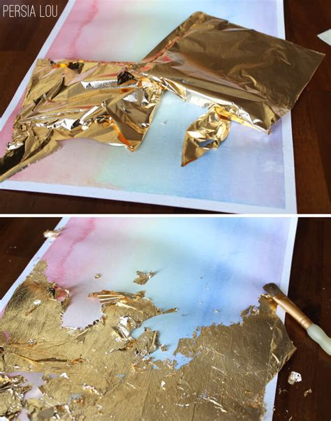 watercolor metal tutorial gilded watercolor artwork tutorial persia lou