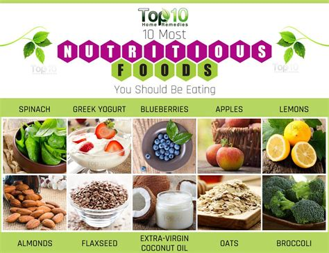 what is in food 10 most nutritious foods you should be top 10