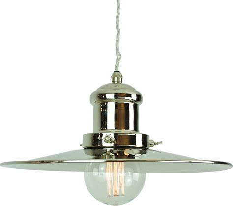 Period Pendant Lighting Large Edison Replica Period Pendant Light Polished Nickel 1900 2 P N