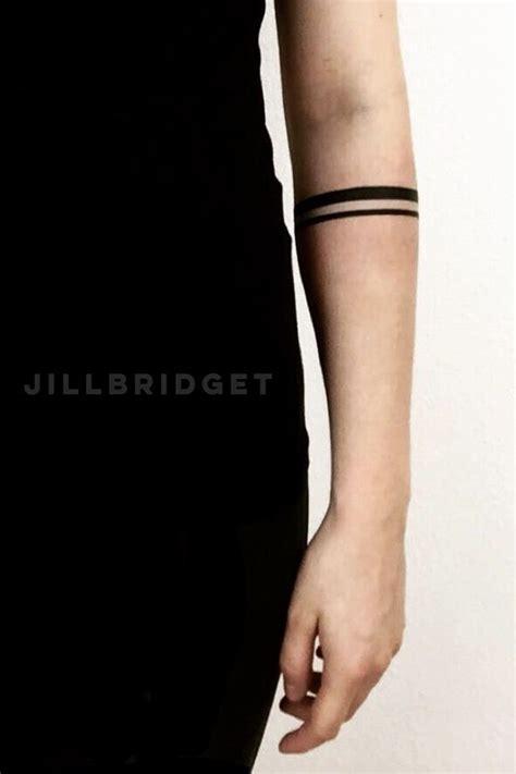 Stripe Tattoo On Arm Meaning   bracelet tattoo solid band tattoo stripes tattoo arm
