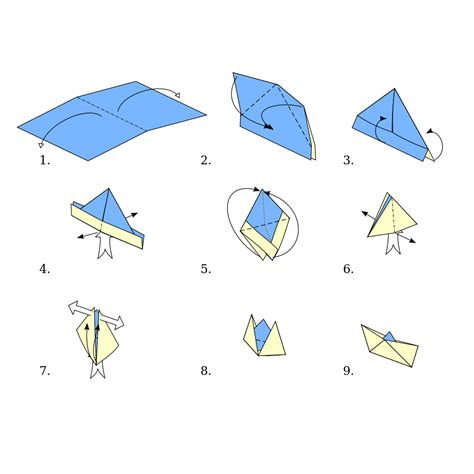 Origami Ship - file origami boat svg wikimedia commons