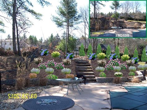 backyard slope landscaping ideas front yard landscaping ideas on a slope images of backyard