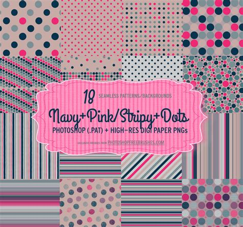 photoshop patterns not showing up navy pink polka dots patterns photoshop free brushes