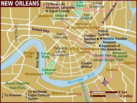 map of new orleans map of new orleans