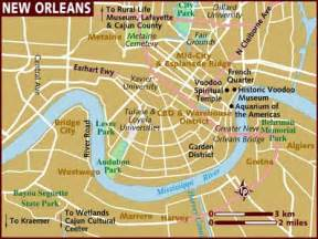 car map of new orleans map of new orleans