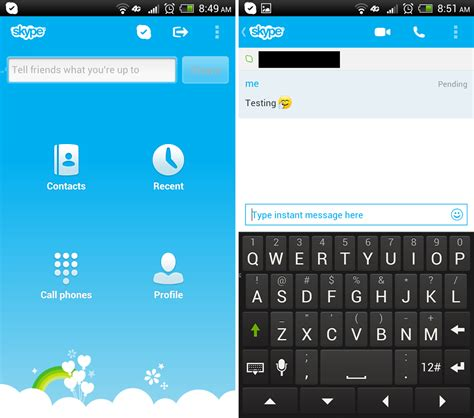 skype on android android apps