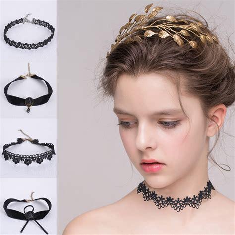 for short neck best suited necklaces hot sale women water drop choker lace short necklace