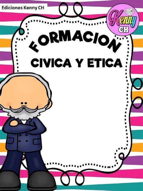 caratula para civica y etica fichas de primaria portadas para cuadernos