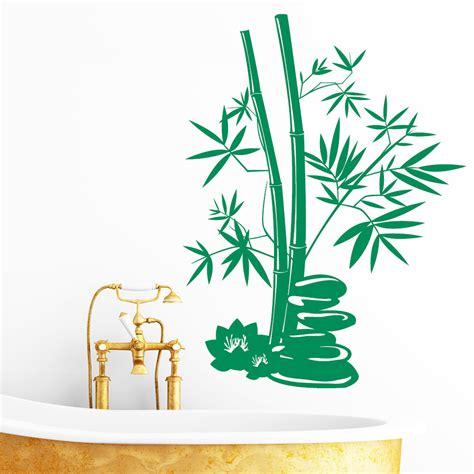 Deko Aufkleber Bambus by Bambus Deko Steine Wandtattoo