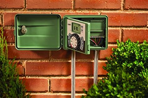 timer swing orbit 57894 4 station outdoor swing panel sprinkler system