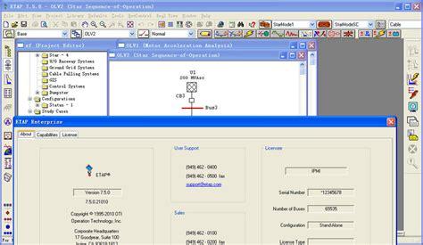 free download full version etap software power analysis software etap 7 5 english full version