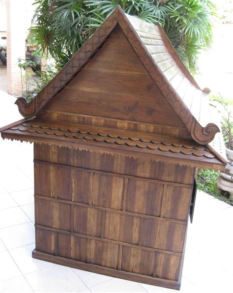Hand Carved Traditional Thai House For Pets Cats And Dogs