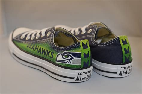 seahawks tennis shoes seahawks converse shoes
