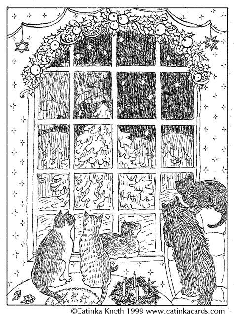 Victorian christmas cards coloring pages