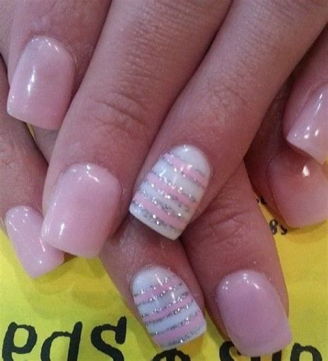 lights nail designs 50 lovely pink and white nail designs