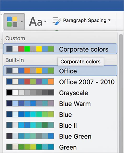 how to change theme colors in word apply your custom theme color asisten陋艫 office
