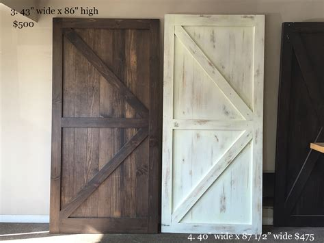 classic brace barn door rustic white you re unique