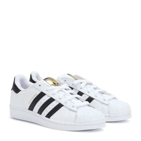 adidas white sneakers adidas superstar leather sneakers in white lyst