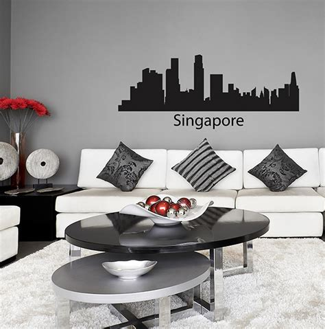 skyline wall stickers singapore skyline wall sticker