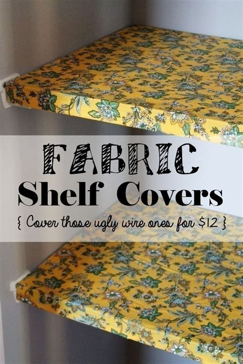 fabric shelf covers  organized pantry