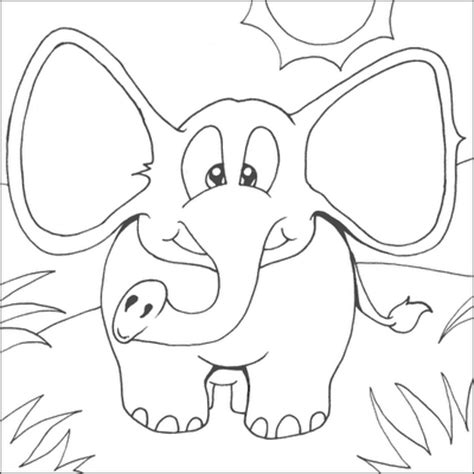cute elephant coloring pages 13 cute baby elephant printable coloring sheet