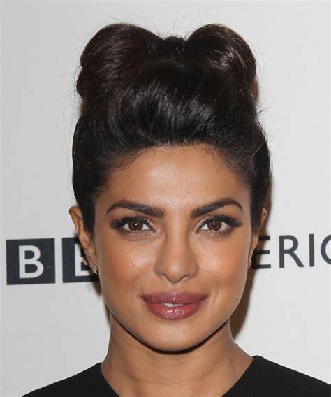 priyanka chopra updo hairstyles priyanka chopra long straight formal updo hairstyle dark