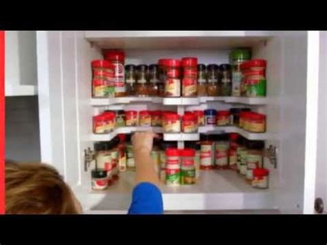 Masterpiece Spicy Shelf Patented Stackable Organizer   YouTube