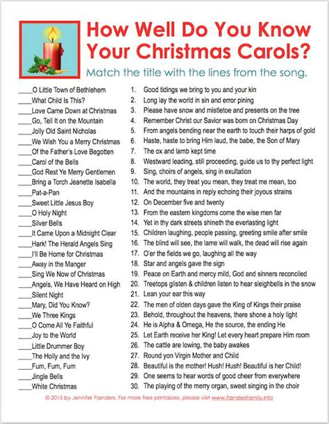 printable christmas lyrics quiz 34 best xmas party games images on pinterest printable