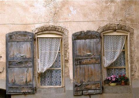 Tuscan Window Shutters Rustic Shutters Historical Elegance And House Exterior Ideas