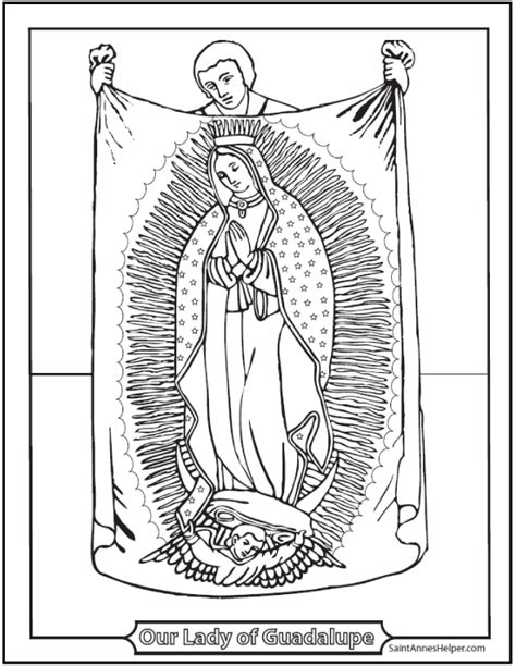 Our Of Guadalupe Coloring Pages our of guadalupe coloring page coloring home