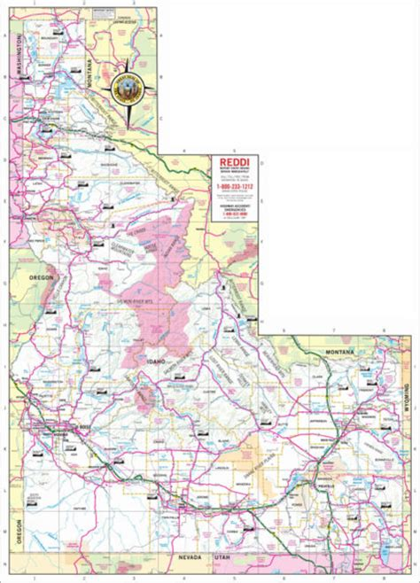 idaho on map maps publications visit idaho