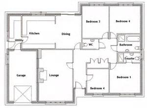 4 bedroom house floor plans ground floor plan for the home house plans