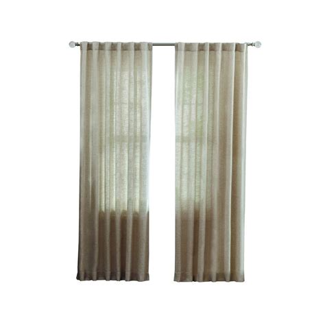 Home Depot Drapery home decorators collection grey faux linen back tab curtain 50 in w x 108 in l 1 panel