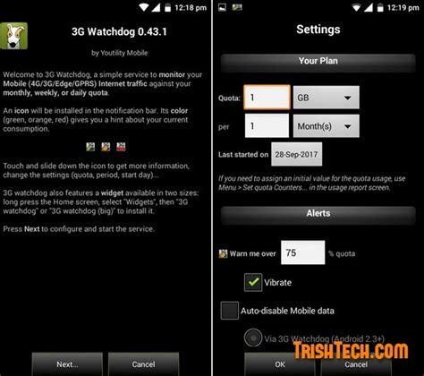 watchdog mobile app keep a tab on data usage in android with 3g watchdog