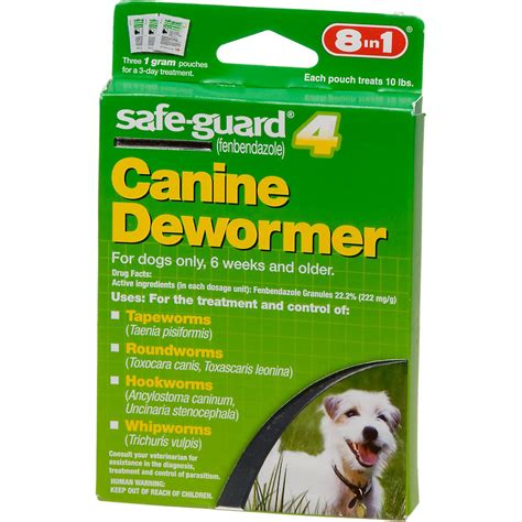 dewormer for puppies 8 in 1 safe guard 4 canine dewormer for small dogs petco store
