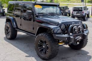 Modified Jeeps For Sale 2013 Custom Black Jeep Wrangler Unlimited Rubicon For Sale
