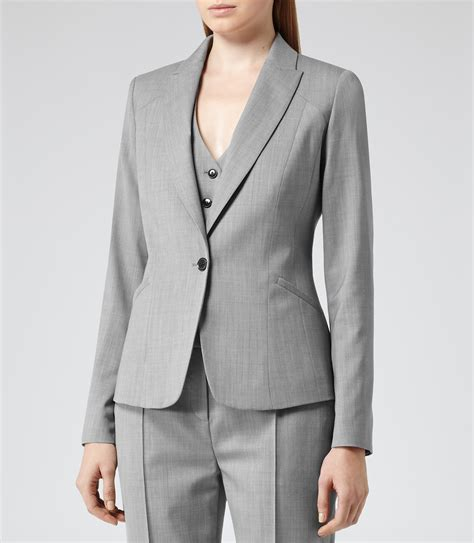 ladies jacket design lyst reiss tomley arc tailored jacket in gray