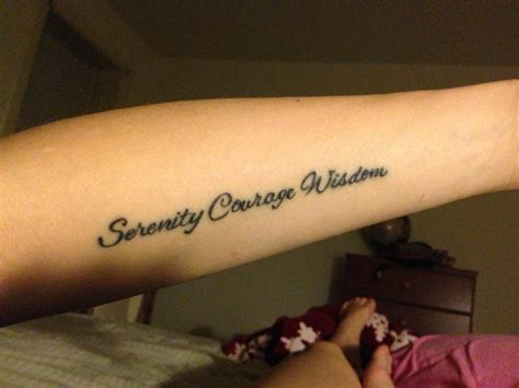 my serenity prayer tattoos