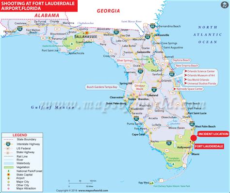 florida airport map fort lauderdale airport shooting