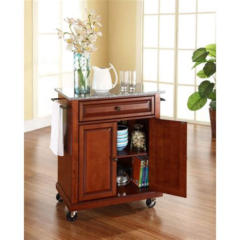 crosley furniture kitchen cart crosley furniture solid granite top portable kitchen cart