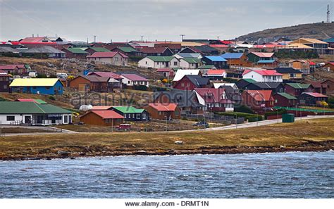 Falkland L by Stanley Falkland Islands Houses Stock Photos Stanley