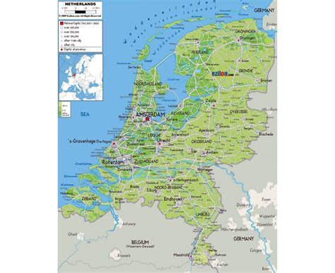 netherlands map airports maps of netherlands detailed map of netherlands