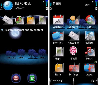 themes for mobile phones mobile phones luna theme for s60v5