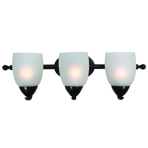 Yosemite Home Decor Mirror Lake 3 Light Oil Rubbed Bronze White Bathroom Lighting