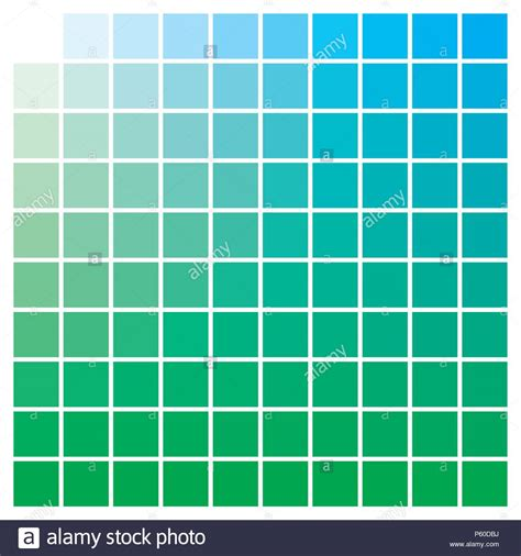 green color swatches cmyk color chart to use in prepress and printing used to