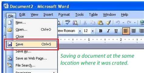 Saving A Document Tutorial Webucator - how to save a document inforamtionq com